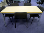 Rectangular office tables and chairs