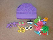 Kid K'nex toy & carry case - Approx 34 items to make various monsters