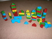 WOODEN BRICKS/BLOCKS TOY FROM ELC - VARIOUS SHAPES AND SIZES