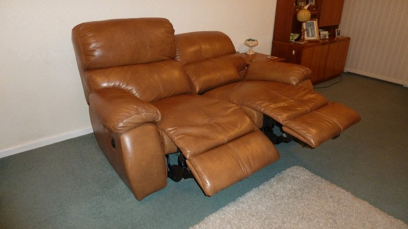Leather Power Reclining Sofa For Sale In Hereford Leather